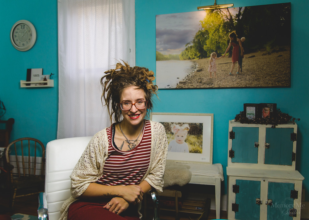 professional portrait of Madelin Zaycheck owner of St. Paul Portrait Studio Memory Me Studio