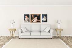custom wall art of family portrait