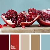 Color thumbnails with a photograph of a pomegranate