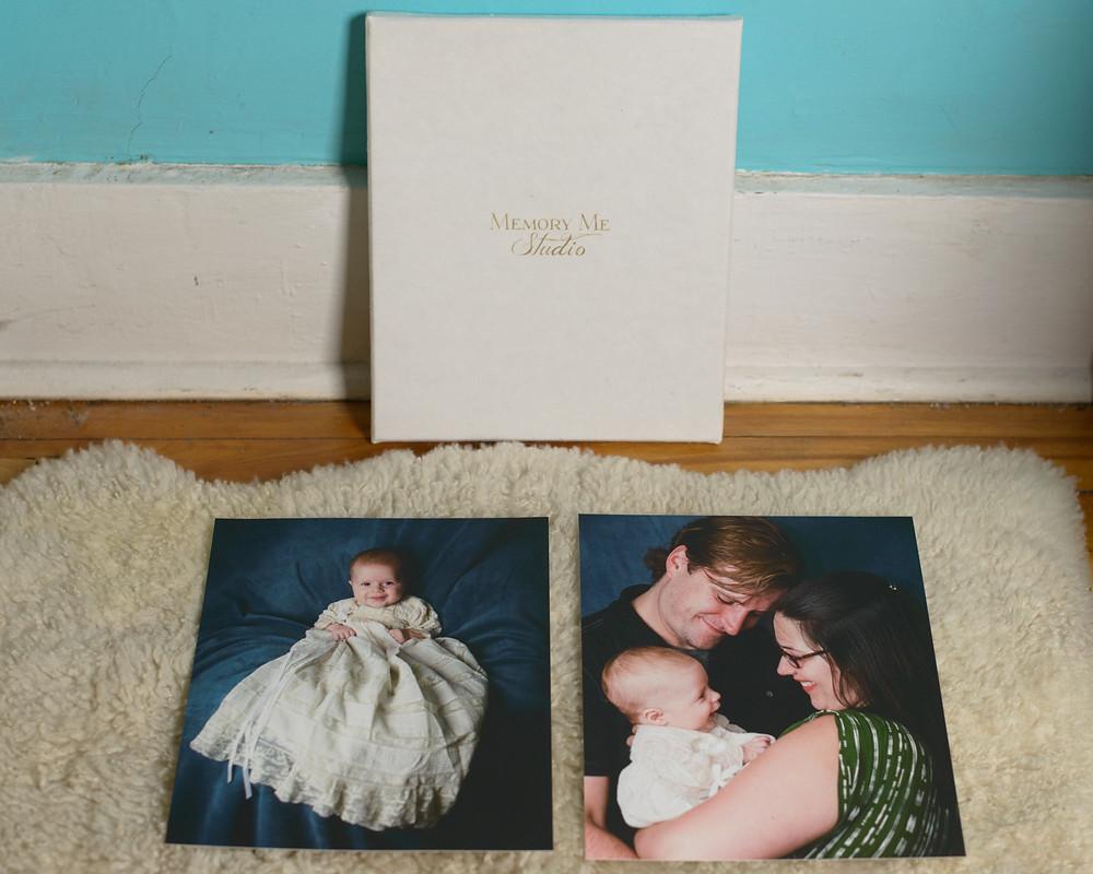two fine art printed photos at memory me studio in saint Paul, Minnesota.