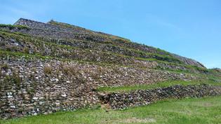 Las pirámides de Cacaxtla, afuerita de el pueblo de San Miguel del Milagro, Tlaxcala, Mexico, 2017.