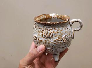 glossy white mug, 2019.