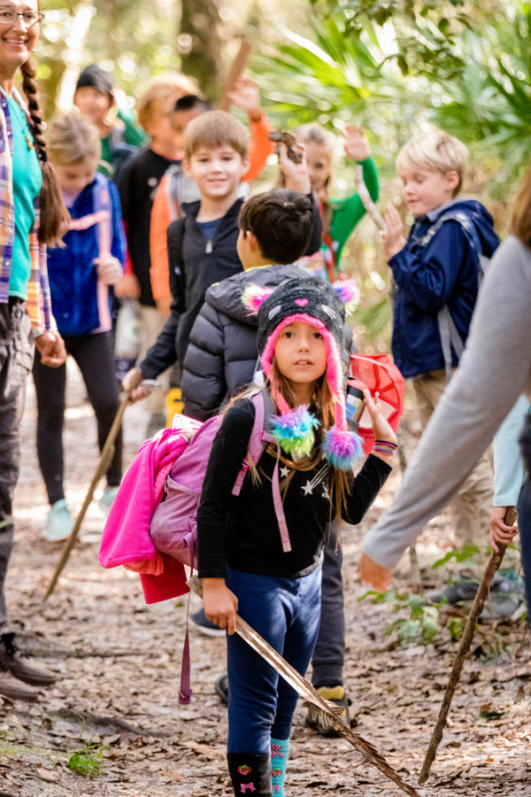 Children in outdoor education in Jacksonville, Florida