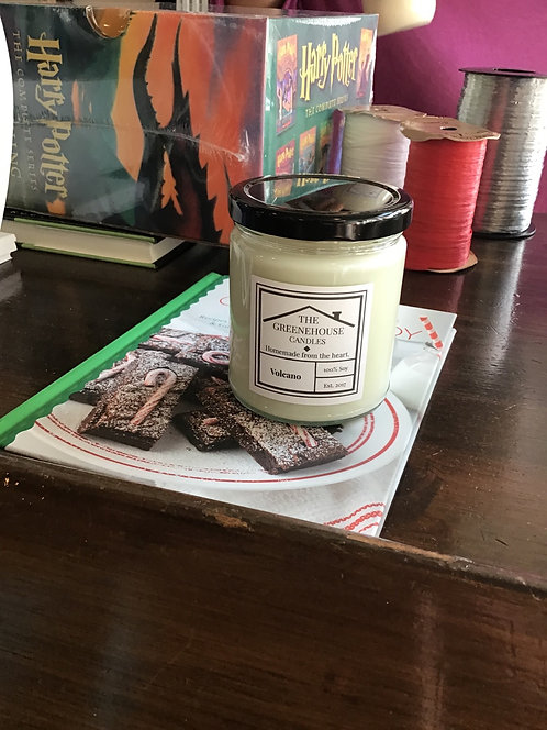 Small Candle from Greenhouse Candles Frazier Fir or Volcano