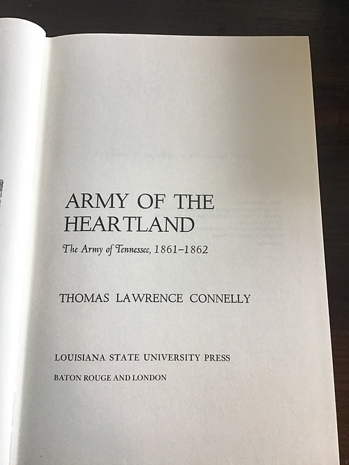 Army of the Heartland by Thomas Connelly