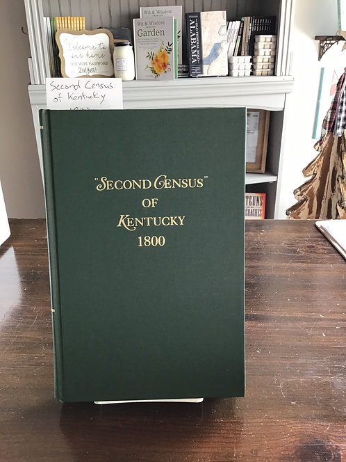 Second census of Kentucky 1800 by Glift