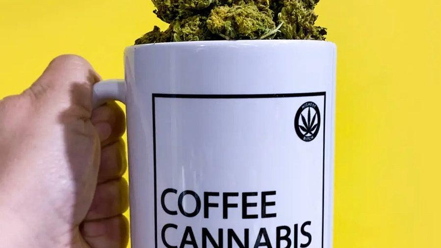 Coffee Cannabis Conquer Mug