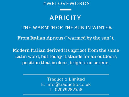 We love words - Apricity