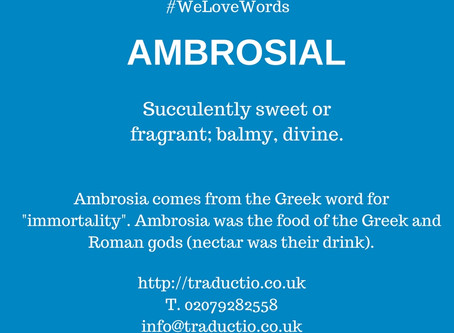 We love words - Ambrosial