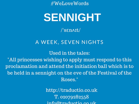 We love words - Sennight