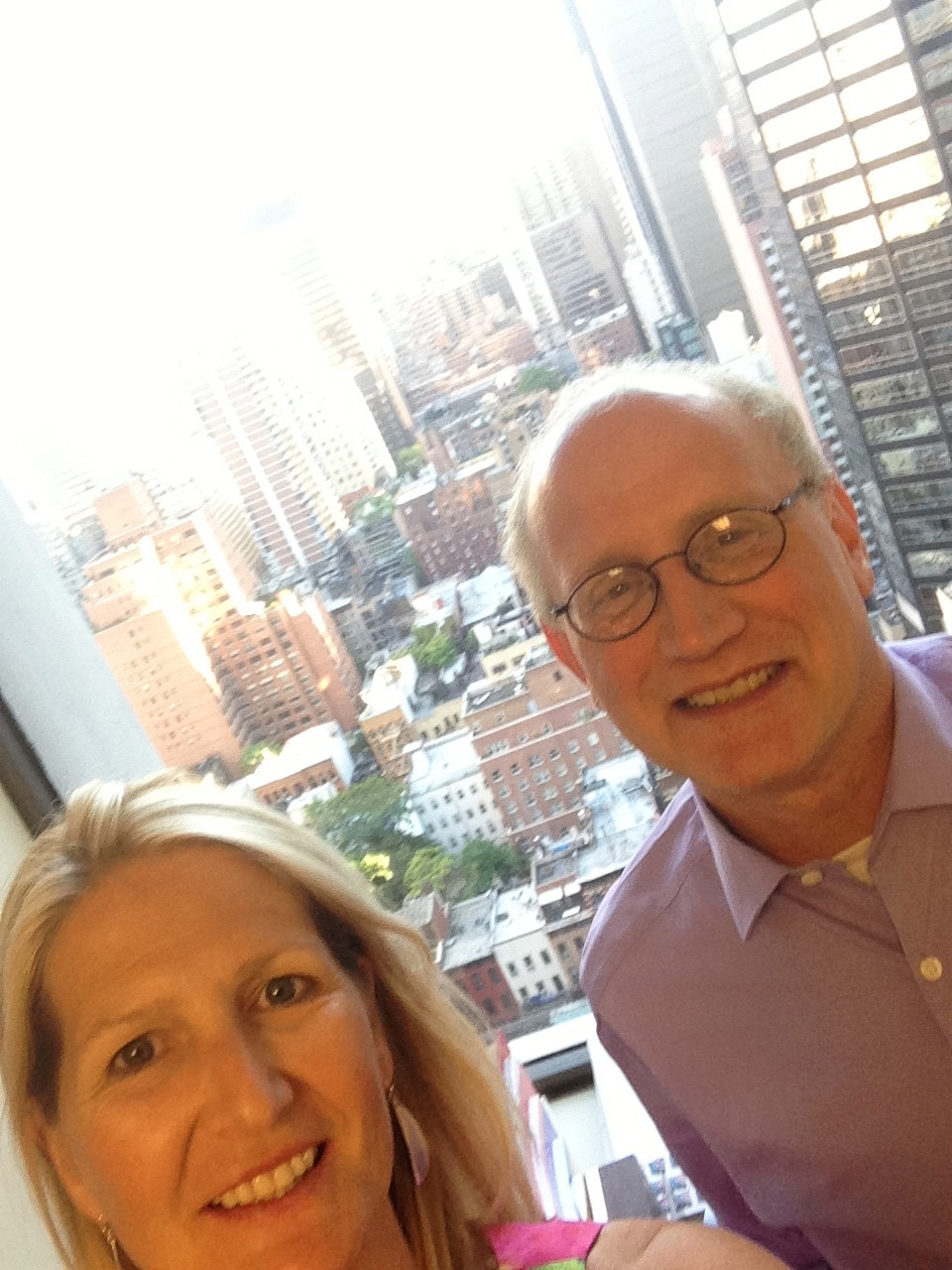 Claire Meyerhoff and Dave Marcus at the offices of The New York Community Trust