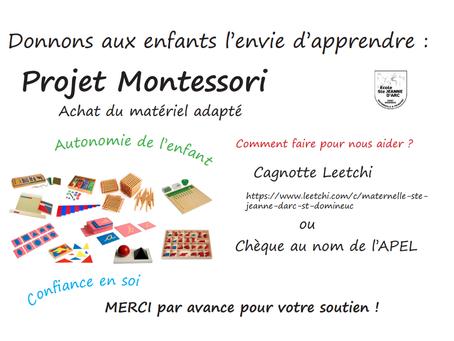 Projet Montessori en Maternelle