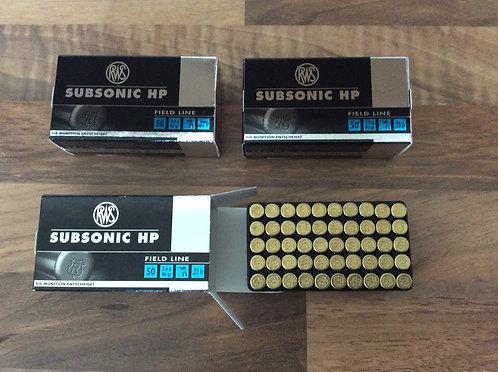 22LR Subsonic Hollow RWS Rimfire Ammunition BOX OF 50
