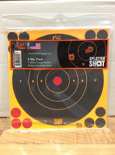 Pro Shot 8 inch reactive target 6 pack