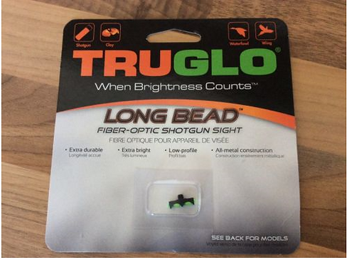 3.0 MM TRUGLO LONG SHOTGUN BEAD GREEN