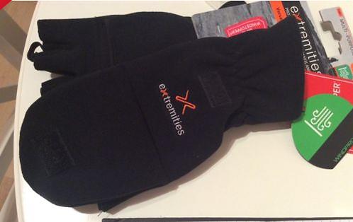 Extremities Windproof convertible glove mitt gore windstopper size medium