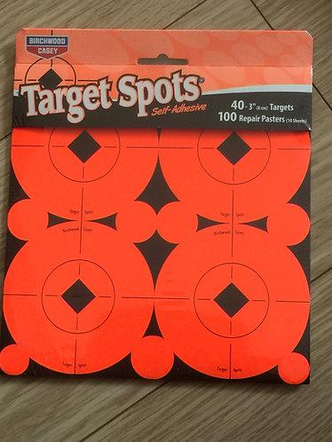 10 PACK TARGET SPOT SELF ADHESIVE 40 X 3 INCH TARGETS BIRCHWOOD CASEY