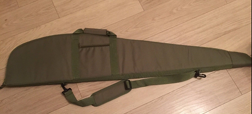 Gun Bag Gun Slip for scoped rifles with Side Pocket Zipped Unpadded