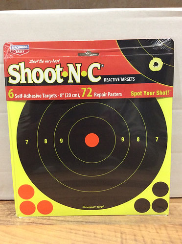 Shoot n c reactive targets 8 inch 6 pack