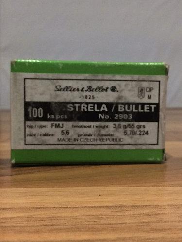 Bullets. .224. FMJ. 55 grain