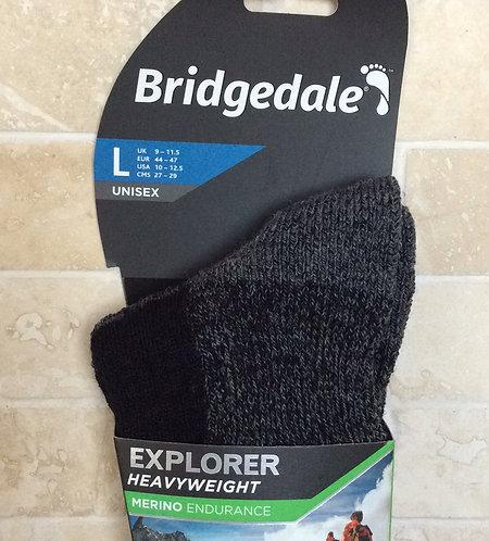 Bridgedale Merino Heavyweight Winter Socks  BLACK