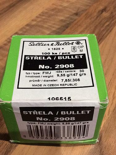 Bullets. 308. 147grain FMJ