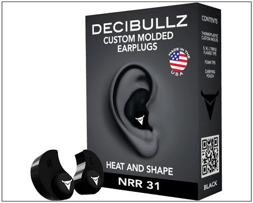 DECIBULLZ EAR PLUGS. ALL COLOURS