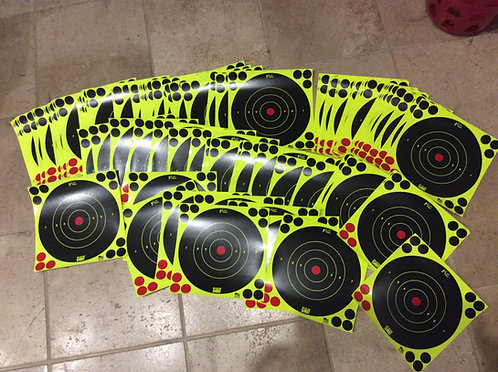 5 PACK SHOOT N C REACTIVE TARGET SELF ADHESIVE 8 INCH TARGETS & REPAIR PLASTERS