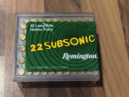 REMINGTON .22LR HOLLOWPOINT SUBSONIC BULLETS