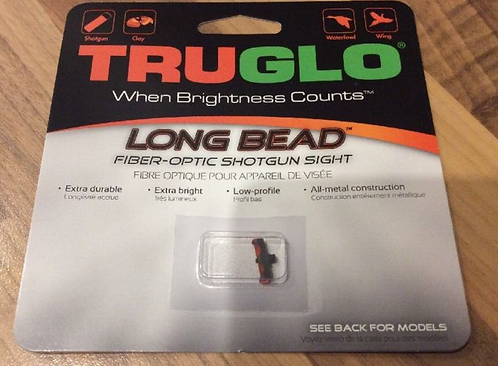 2.6MM TRUGLO LONG BEAD SHOTGUN SIGHT RED OR GREEN