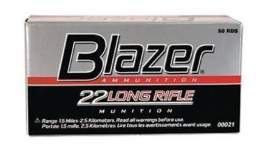 CCI .22 RIMFIRE HV BLAZER SOLID 40GR