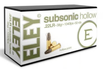 ELEY SUBSONIC HOLLOW .22 RIMFIRE AMMUNITION