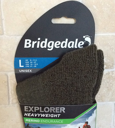 Bridgedale Merino Heavyweight Winter Socks GREEN