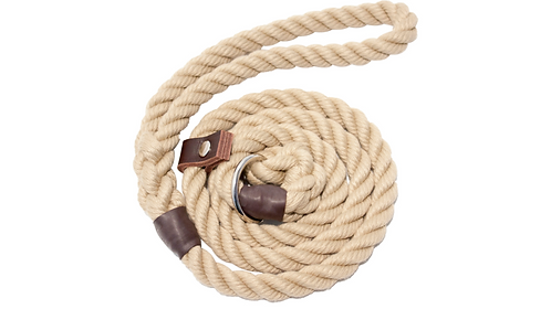 NATURAL ROPE SLIP LEAD 8-10-12MM BY BISLEY