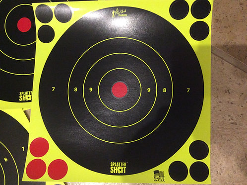 8 INCH SPLATTER SHOT TARGETS REACTIVE TARGETS FLUORESCENT GREEN AND ORANGE