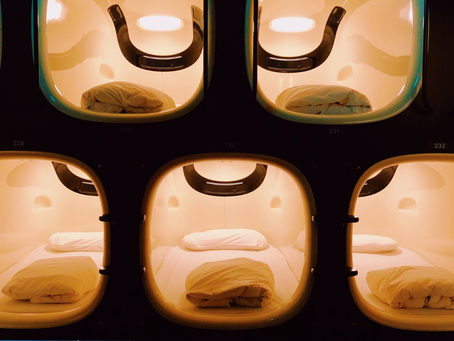 Staying in a Japanese capsule hotel