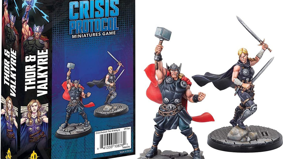 Marvel Crisis Protocol Miniatures Game Thor and Valkyrie Expansion