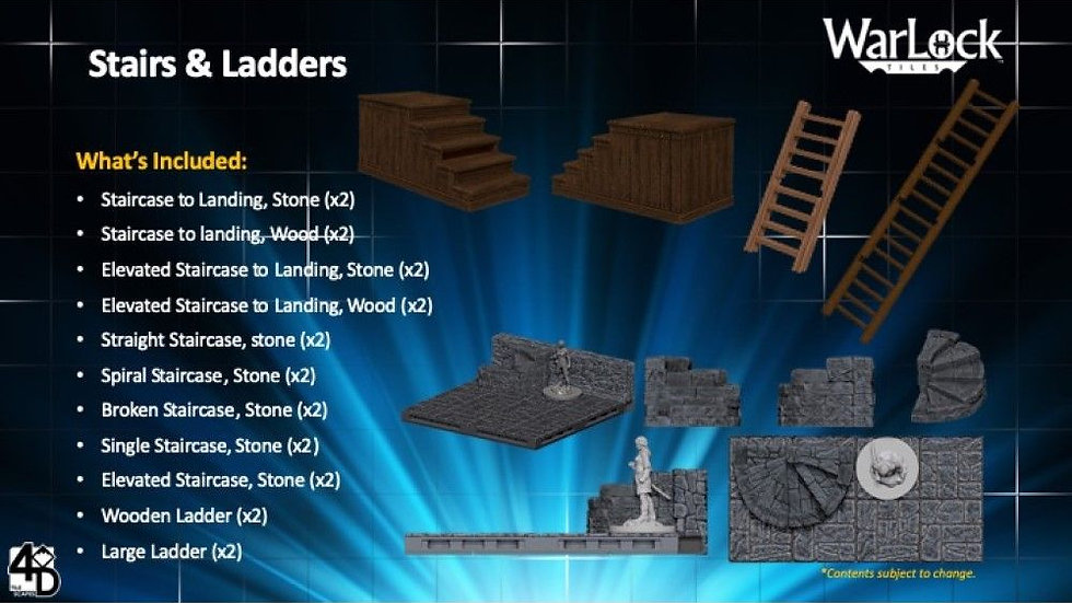 (PRE-ORDER) WarLock Tiles Stairs and Ladders