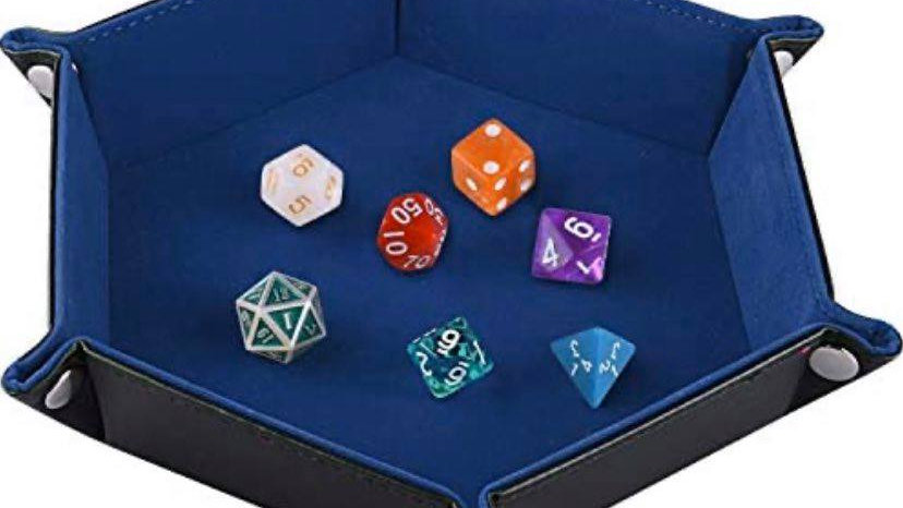 Collapsible Dice Tray (Dark Blue)