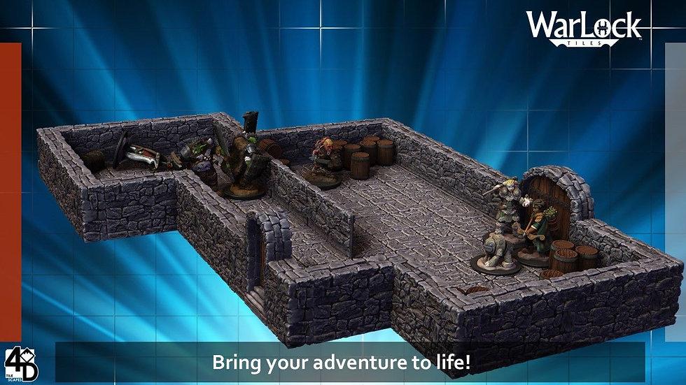 (PRE-ORDER) WarLock Tiles Dungeon Tiles I
