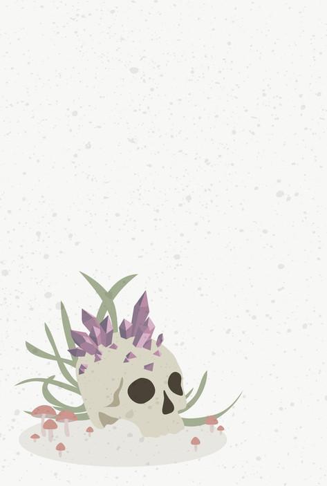 Skull and Crystals