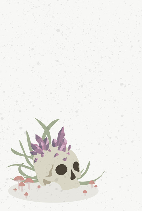 Skull and Crystals
