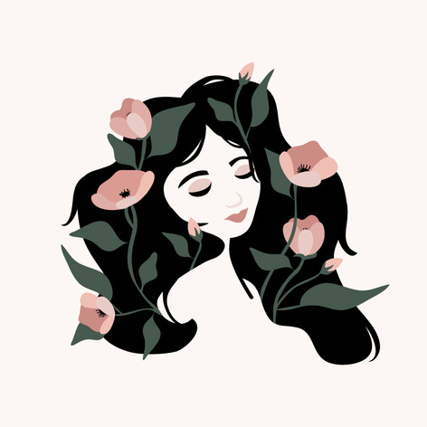 She Has Flowers in Her Hair