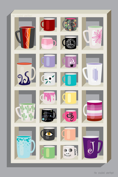 Shelf of Mugs