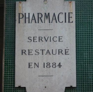 Pharmacy of the salpetriere hospital, Paris