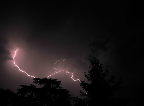 Storm : This photo, taken by Jean-Gregoire Marin, represents a storm in the Paris region.