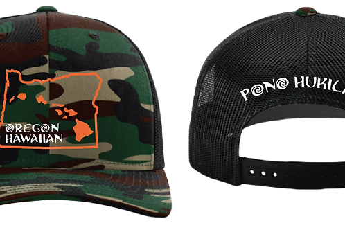 Pono Hukilau Hat Oregon Hawaiian Army Camo
