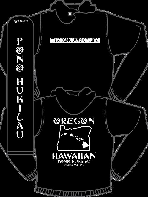 Pono Hukilau Oregon Hawaiian Hoodie (Sleeve Logo)