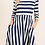 Thumbnail: Striped Dress with Pockets (Wine Color)