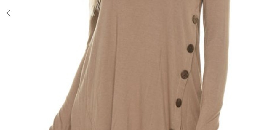 Brown Tunic with Side Buttons